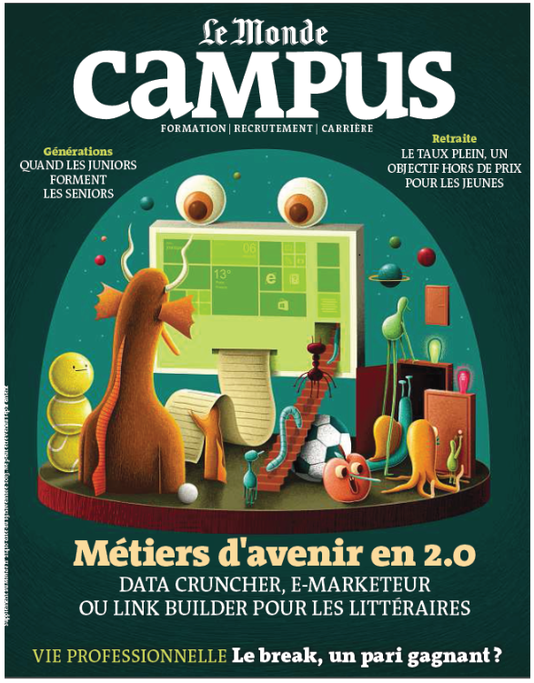 "Interview in the French magazine ""Campus"", from Le Monde about the opportunities in online marketing for students with a background in lterature"