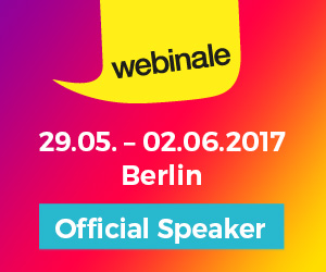 Speaker Content Marketing Strategy at the webinale in Berlin