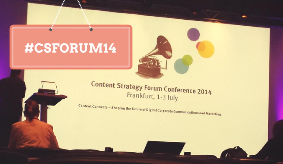 Impressionen & Slides vom Content Strategy Forum 2014