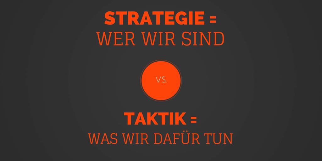 Taktik Vs Strategie