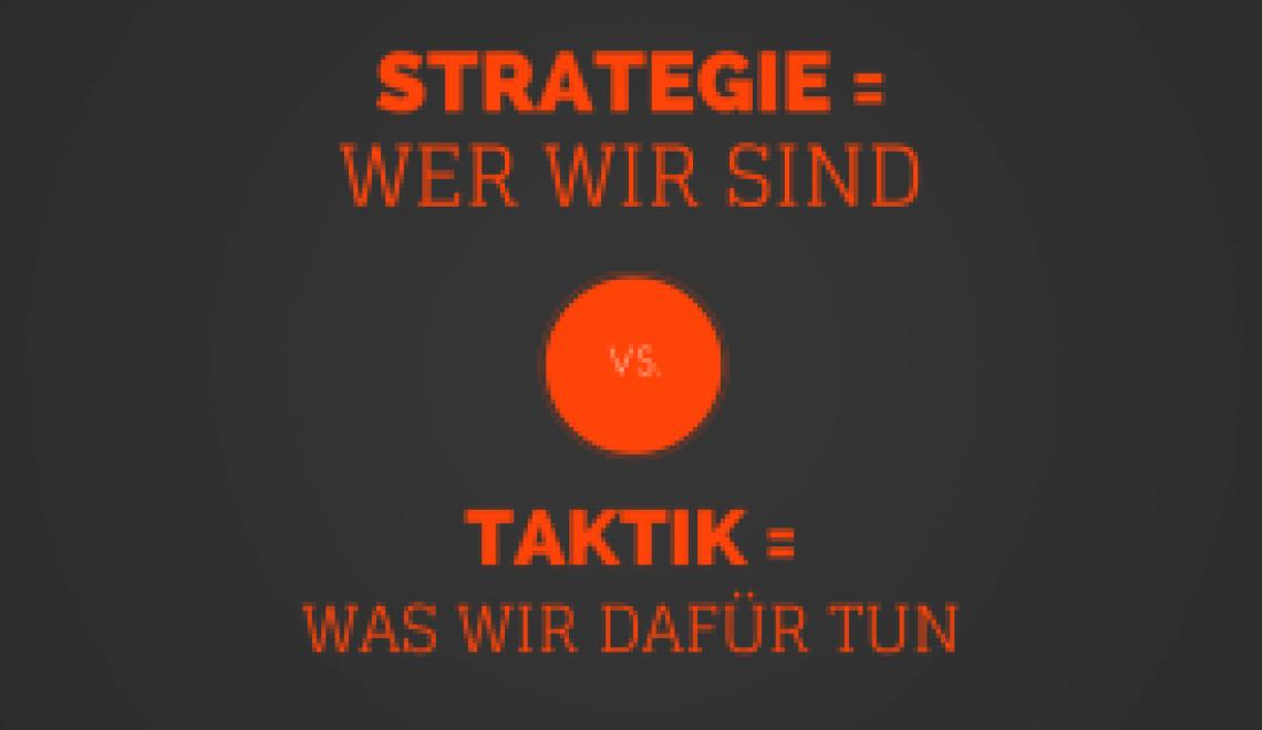 Strategie vs. Taktik – Was ist der Unterschied?