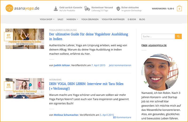 Foto: Screenshot von Asanayoga.de