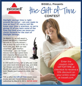 The Gift of Time marketing campaign from bissell