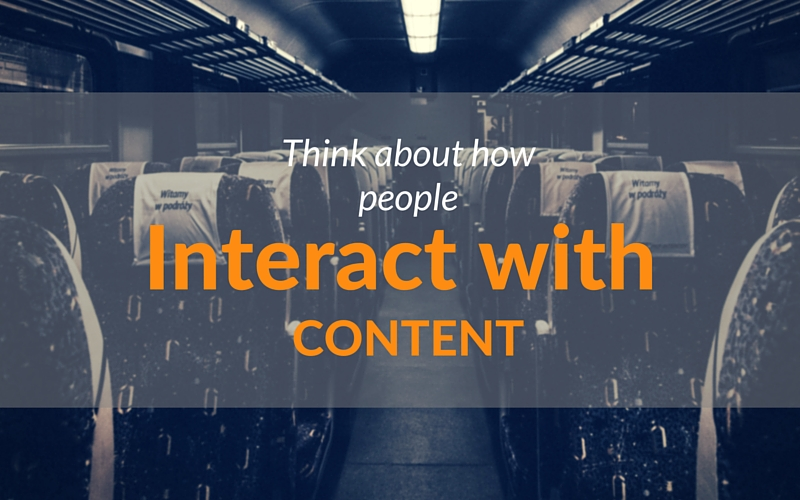 Content Consumption patterns: how do people interact with content?