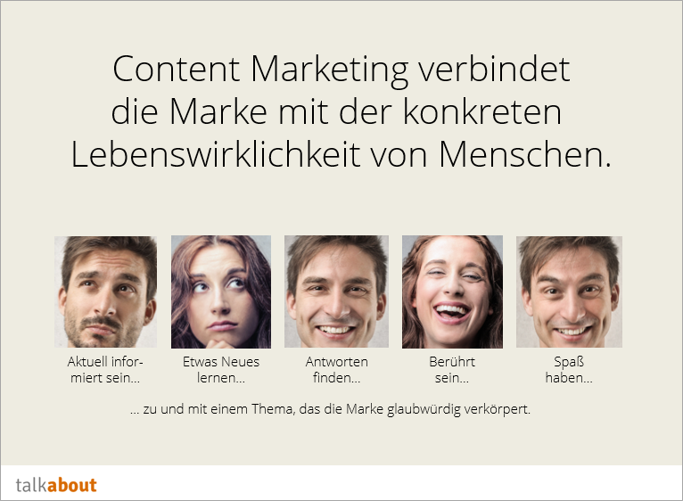 Die Definition von Content Marketing
