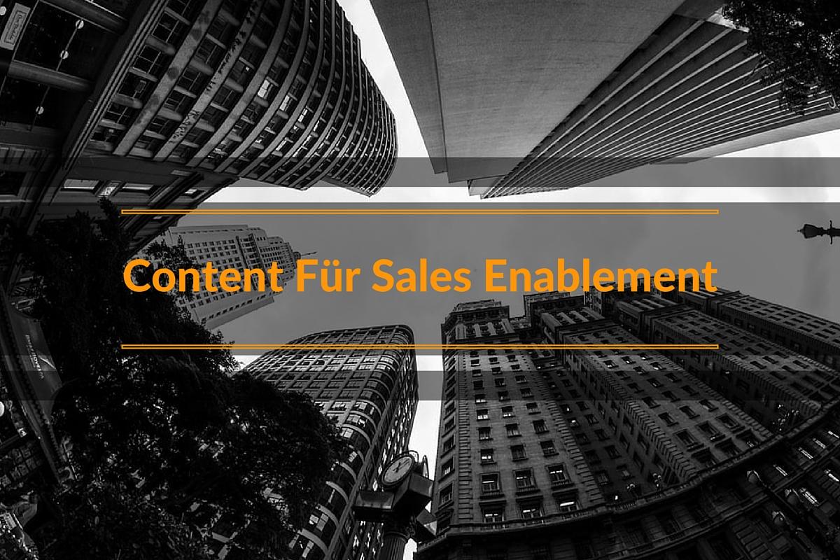 Auch der Vertrieb braucht Content vom Marketing!