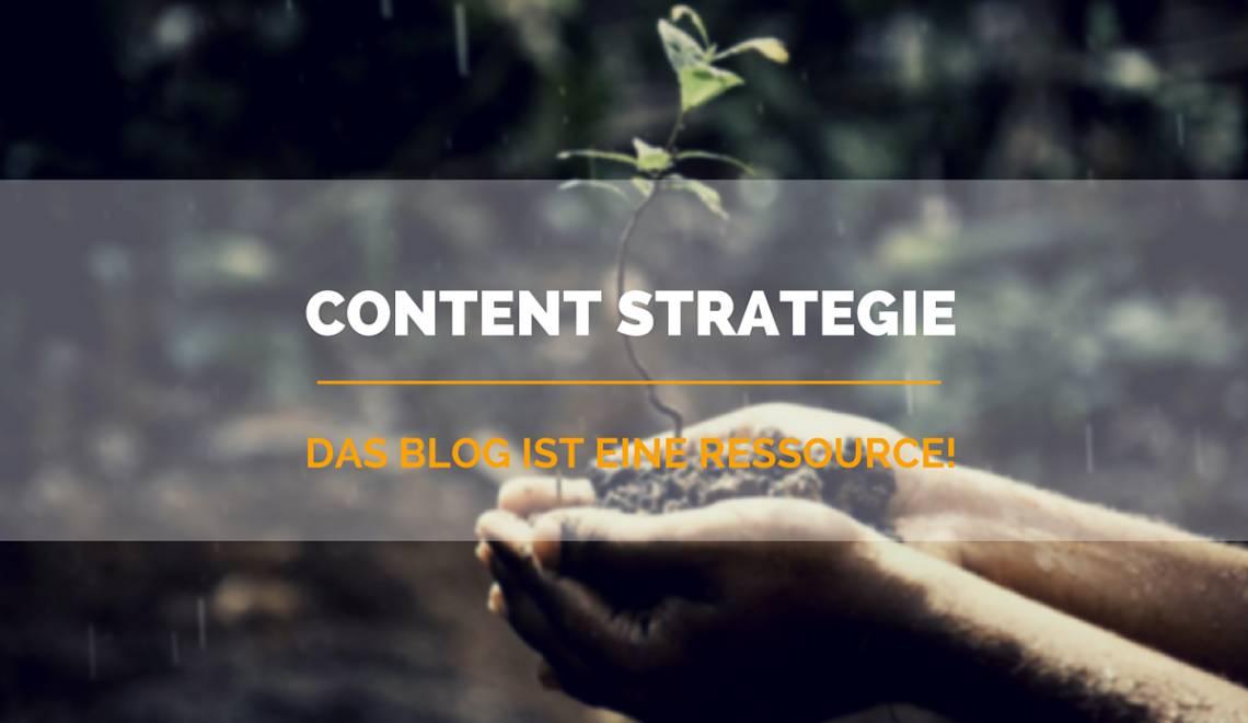 Content Strategie: das Blog als Ressource, statt als Schrotflinte