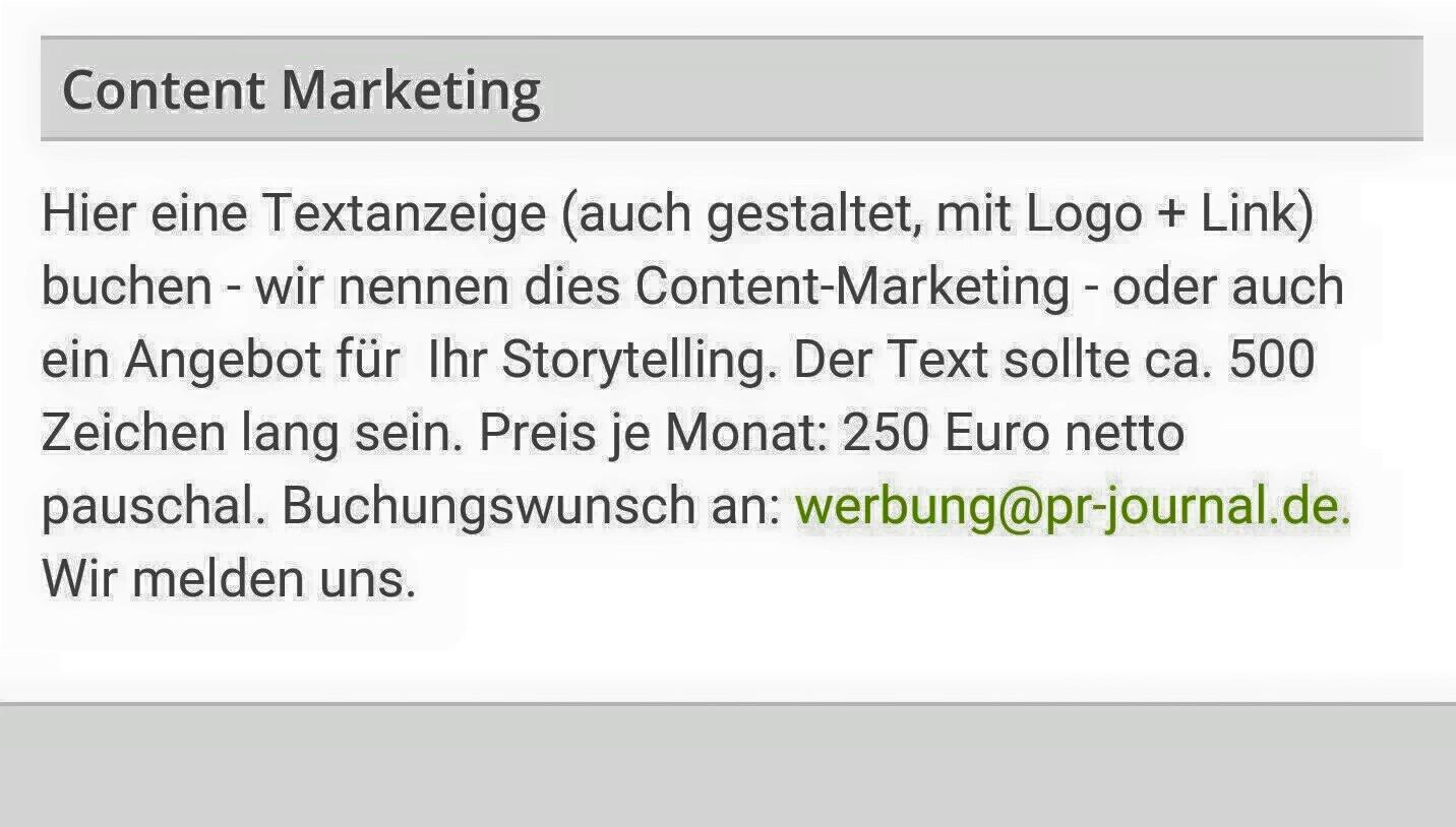 Das Content Marketing Missverständnis
