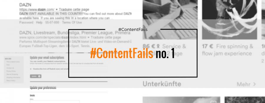 #ContentFails no. 1 – mind your metadata, confusing unsubscribe, more metadata & Localization UX