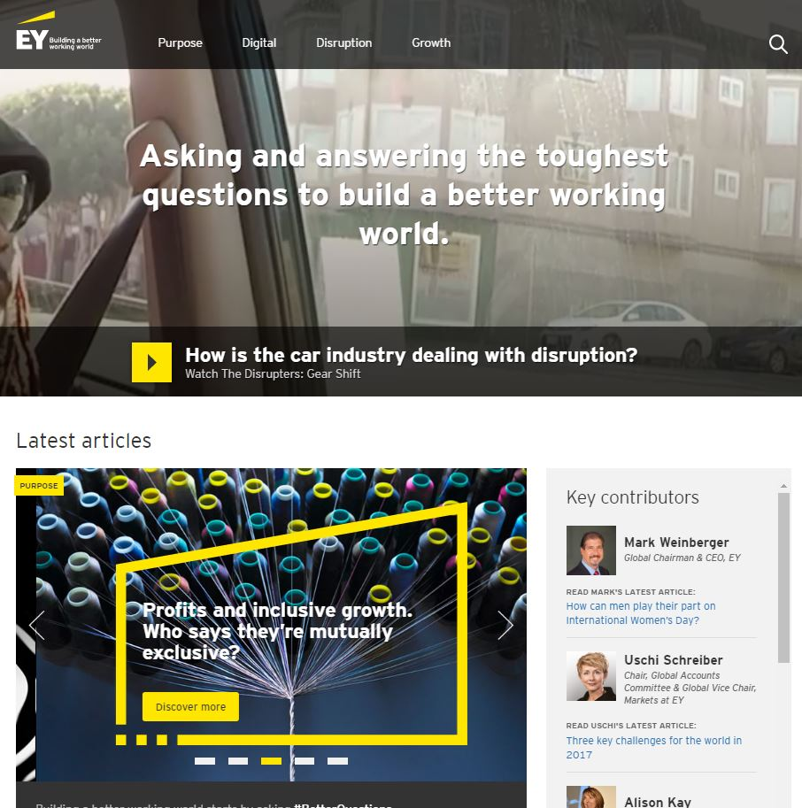 Ernst Young marketing de contenu
