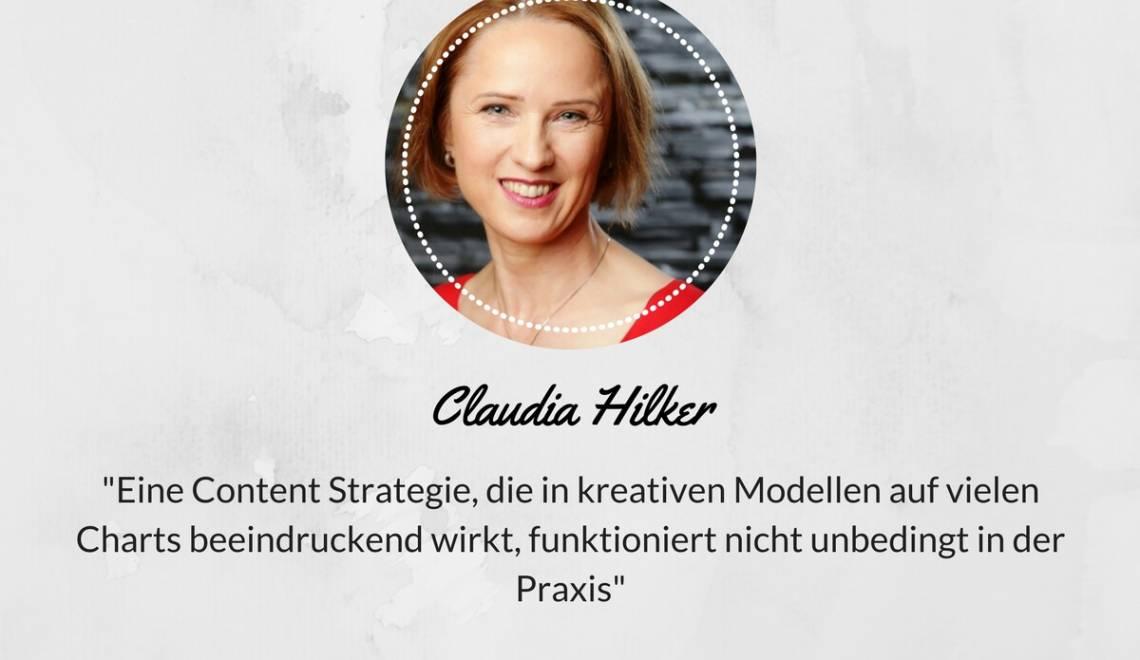 """Ein Gespräch mit C. Hilker: """"Eine Content Strategie, die in kreativen Modellen beeindruckend wirkt, funktioniert nicht unbedingt in der Praxis"""""""