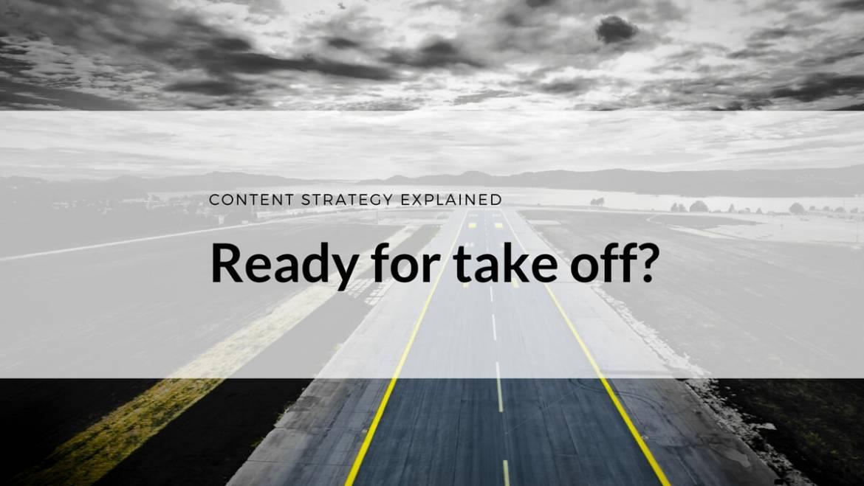 Was Content-Strategie mit dem Fliegen gemeinsam hat